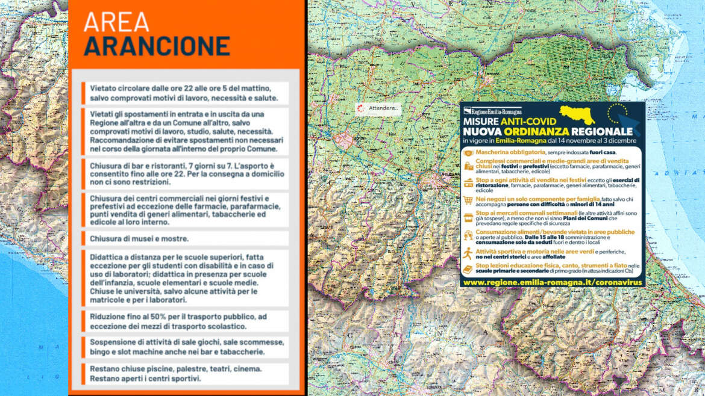 Coronavirus, Emilia Romagna in zona arancione